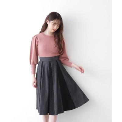 スカート ◇ハイブリッドデニムフレアスカート