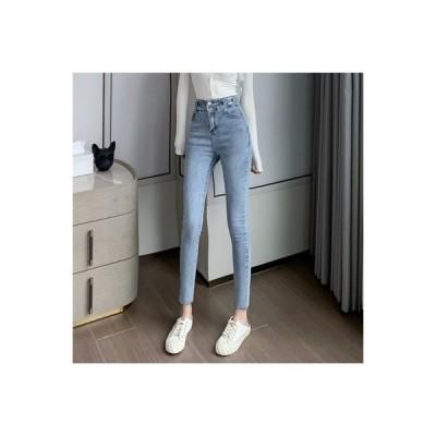 【送料無料】女性のジーンズ 秋 ? 雅 風 ハイウエスト ストレッチ ファッション | 364331_A63659-2888565