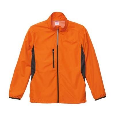 ジャケット アウター ブルゾン マイクロリップストップスタンドジャケット オレンジ  (UNA)(CQB27)