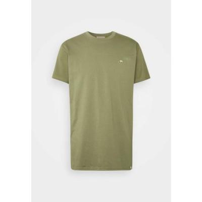 メンズ ファッション Print T-shirt - army