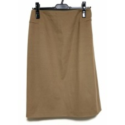 マックスマーラ Max Mara スカート サイズ32 XS レディース 美品 ライトブラウン【中古】20200429