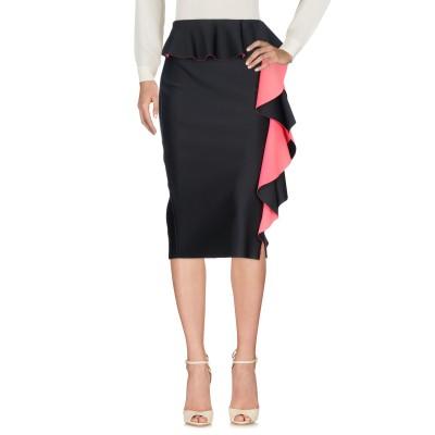 MARIA GRAZIA SEVERI 7分丈スカート ブラック 40 ナイロン 78% / ポリウレタン 22% 7分丈スカート