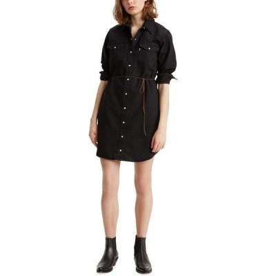リーバイス ワンピース トップス レディース The Ultimate Western Shirtdress Black Rose