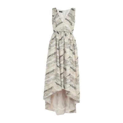 MATILDE CANO ロングワンピース&ドレス ベージュ 38 ポリエステル 100% ロングワンピース&ドレス