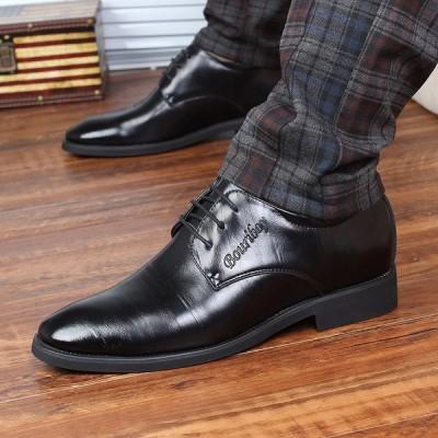 ビジネスシューズ メンズ 疲れない 防滑ソール ストレートチップ 歩きやすい革靴 ロングレッグシューズ 紳士靴 結婚式 2019