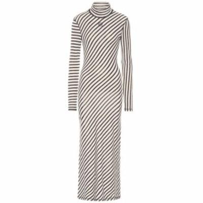 ロエベ Loewe レディース ワンピース マキシ丈 ワンピース・ドレス Striped cotton maxi dress Navy/White