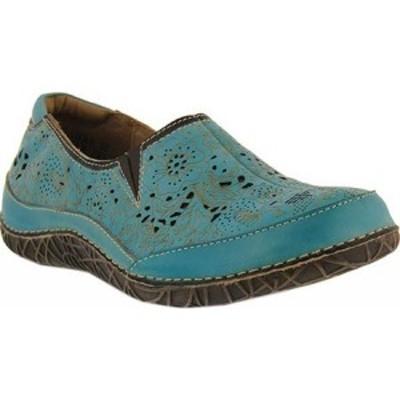 スプリングステップ LArtiste by Spring Step レディース スリッポン・フラット シューズ・靴 Libora Slip-On Sky Blue Leather