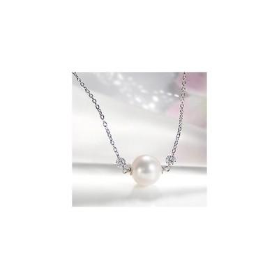 ネックレス ペンダント あこや本真珠 8mm パール ダイヤモンドギフト ホワイトゴールド K18WG ホワイトデー  ギフト 記念日 プレゼント