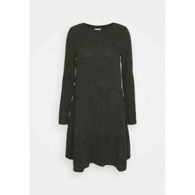 ヴィラ レディース ワンピース トップス VIELITA DRESS - Jumper dress - khaki khaki