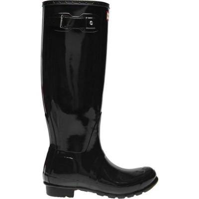 ハンター Hunter レディース レインシューズ・長靴 シューズ・靴 Original Glossy Tall Wellies Black Gloss