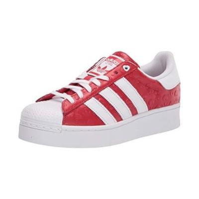 adidas Originals Women's Superstar Bold Shoes Sneaker, Scarlet/Black/White, 8.5