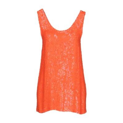パロッシュ P.A.R.O.S.H. トップス オレンジ XS レーヨン 100% / ポリ塩化ビニル トップス