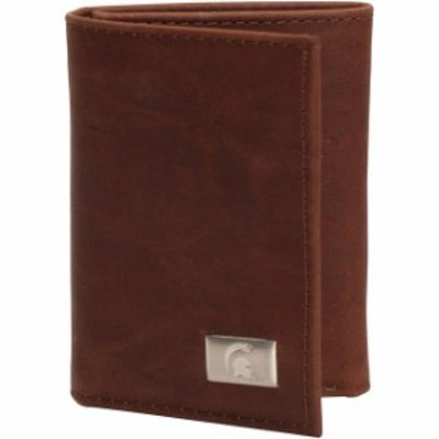 Eagles Wings イーグルス ウイングズ スポーツ用品  Michigan State Spartans Leather Tri-Fold Wallet with Concho - B