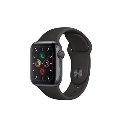 Apple Watch Series 5 GPSモデル 40mm スペースグレイアルミニウムケースとブラックスポーツバンド レギュラー MWV82J/A