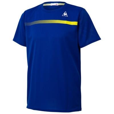 ルコックスポルティフ テニス ユニホーム ゲームシャツ 半袖シャツ セーヌブルー SBL LE-QTMPJA02-SBL