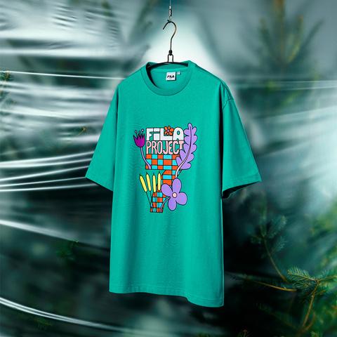 FILA #BackToNature 短袖圓領T恤-淺綠 1TEV-1235-GN