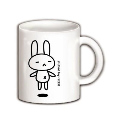 stuffed toy rabbit(浮遊04) マグカップ(ホワイト)