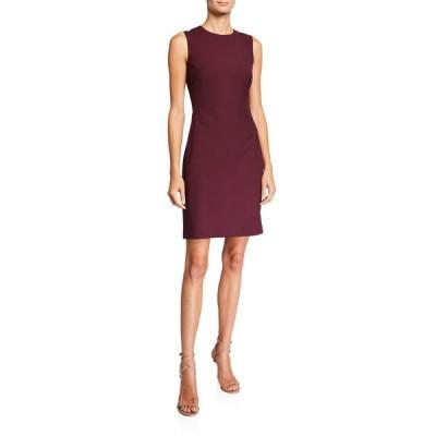 セオリー レディース ワンピース トップス Fitted Wool Sleeveless Sheath Dress