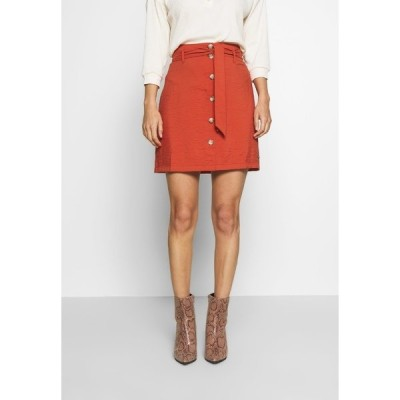 トムテイラーデニム スカート レディース ボトムス BELTED CARGO SKIRT - Mini skirt - fox orange