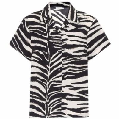 ドリス ヴァン ノッテン Dries Van Noten レディース ブラウス・シャツ トップス Zebra-print cotton poplin shirt Black