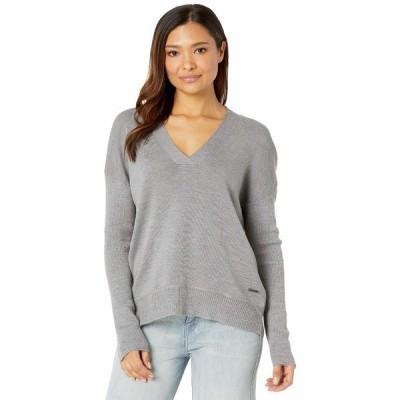 カーブデザイン ニット&セーター アウター レディース Aurora Sweater Grey Heather