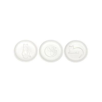 アルタ ネコ醤油皿 すわる まるくなる まつ 3種セット AR06041