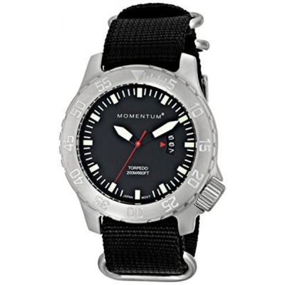 サーフィン Momentum Men's 1M-DV74B7B Torpedo Analog Display Japanese Quartz Black Watch