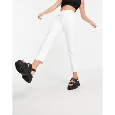ノイズィーメイ Noisy May レディース ジーンズ・デニム ボトムス・パンツ mom jeans in white