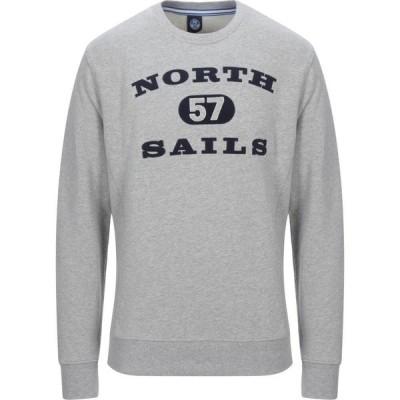 ノースセール NORTH SAILS メンズ スウェット・トレーナー トップス sweatshirt Light grey