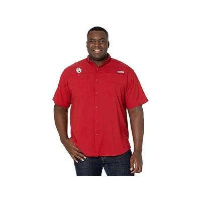 Columbia College Big & Tall Oklahoma Sooners Tamiami Short Sleeve Shirt メンズ シャツ トップス Red Velvet