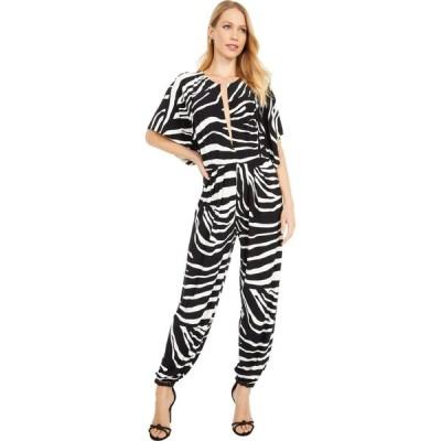 ノーマ カマリ KAMALIKULTURE by Norma Kamali レディース オールインワン ジャンプスーツ ワンピース・ドレス Rectangle Jog Jumpsuit Large Zebra