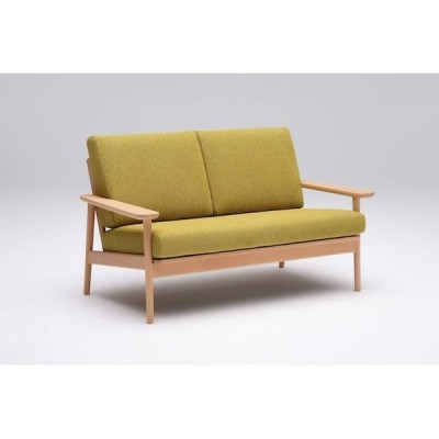 カリモク 2人掛椅子ロング WD4302