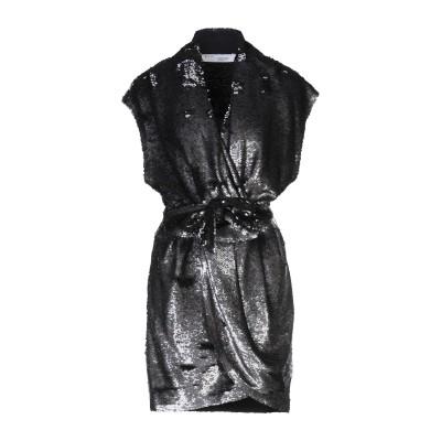 イロ IRO ミニワンピース&ドレス ブラック 38 レーヨン 95% / ポリウレタン 5% ミニワンピース&ドレス