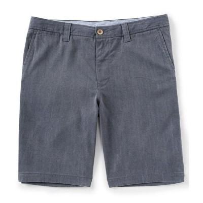 トッミーバハマ メンズ ハーフ&ショーツ ボトムス Havana Herringbone Flat-Front 10 1/2#double; Inseam Shorts Ink