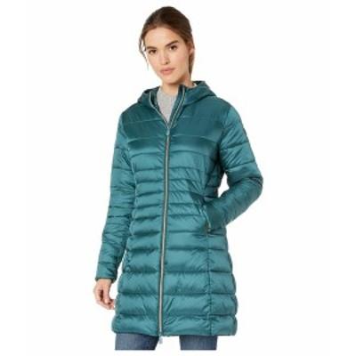 セーブザダック レディース コート アウター Iris 9 Hooded Puffer Coat Evergreen