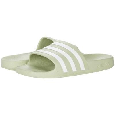 アディダス Adilette Aqua Slides レディース サンダル Halo Green/White/Halo Green