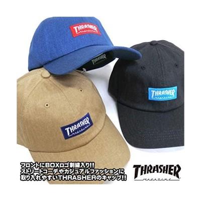 スラッシャー ユニセックス ツイルキャップ (ムラ染めツイル) 19TH-C01 / BOX LOGO CAP 帽子 おしゃれ NVY US