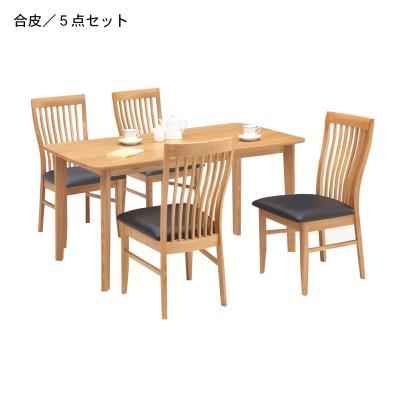 オーク材のダイニングテーブルセット5点セット<4人用>
