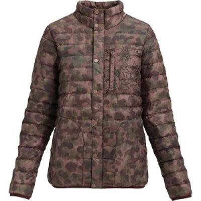 バートン レディース ジャケット・ブルゾン アウター Burton Women's Aliz Evergreen Down Collar Insulator Jacket Moss Camo / Floral