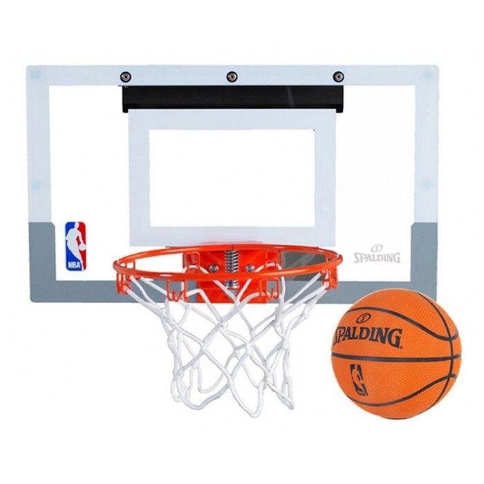 【毒】現貨 SPALDING 斯伯丁 NBA SLAM JAM 等比例 灌籃 透明小籃板+彈簧籃框+籃球 送手環