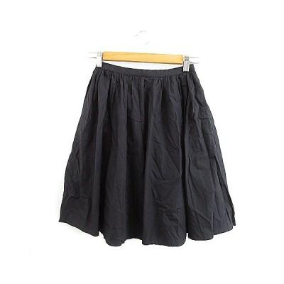 【中古】アーバンリサーチ ドアーズ URBAN RESEARCH DOORS スカート ギャザー ミニ F 黒 ブラック /AAO10 レディース 【ベクトル 古着】