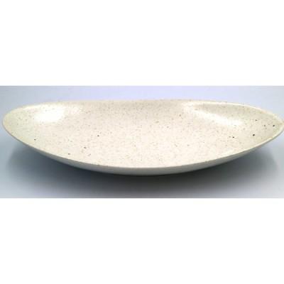 白釉オーバルディッシュ中 23×12.5×3(cm)日本製 美濃焼 業務用食器 おうち居酒屋 盛りやすい食器 本格和食器