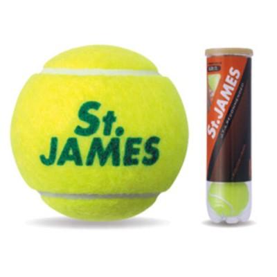 ダンロップ プレッシャーライズド セントジェームス テニスボール 硬式テニスボール (イエロー4球入) DUNLOP St.JAMES セント・ジェームス 4ヶ入ボトル STJAMESE4DOZ STJAMES テニスボール 4P 【返品種別A】