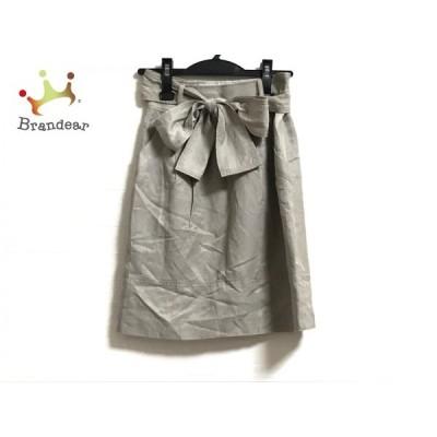 ジャスグリッティー JUSGLITTY スカート サイズ0 XS レディース 美品 ベージュ     スペシャル特価 20200612