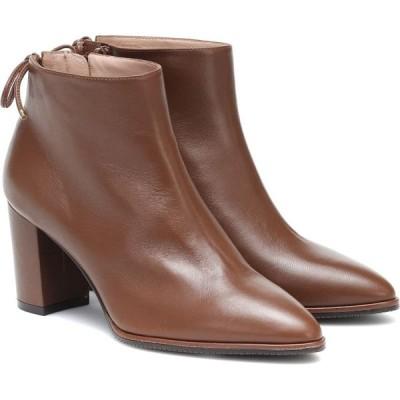 スチュアート ワイツマン Stuart Weitzman レディース ブーツ ショートブーツ シューズ・靴 Gardiner leather ankle boots Coffee