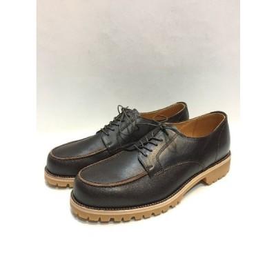 代官山)PADRONE パドローネ Uチップ レザーシューズ ダークブラウン 42 ビブラム  メンズ 靴 14