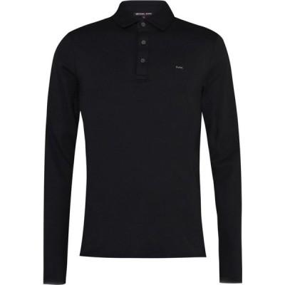 マイケル コース Michael Kors メンズ ポロシャツ トップス Long Sleeve Sleek Polo Shirt Black