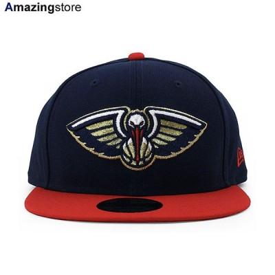 ニューエラ 9FIFTY スナップバック キャップ ニューオリンズ ペリカンズ 【NBA TEAM-COLOR SNAPBACK CAP/NAVY-RED】 NEW ERA NEW ORLEANS PELICANS