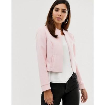 ナフナフ NAF NAF レディース ダウン・中綿ジャケット アウター Naf Naf short padded jacket with zipper Pink