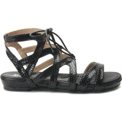ベリーニ オックスフォード シューズ レディース Trendy Ghillie Gladiator Sandal (Women's) Black Snake Polyurethane